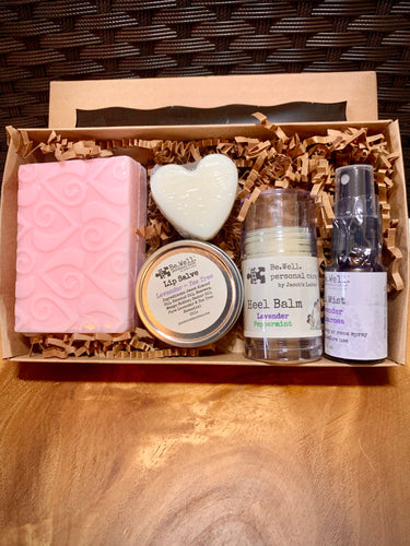 VALENTINE'S DAY Gift Pack - Soap Heel Balm Cuticle Cream Lip Salve Spray