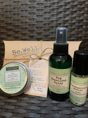 Bug Repellent TRIO - Spray, Roller, Lotion Bar
