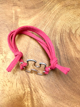 Load image into Gallery viewer, Autism Awareness Bracelet - ADJUSTABLE - Faux Suede Blue Black Brown Pink Puzzle Connector