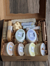 Load image into Gallery viewer, Family Size Gift Box - Paraben/Sulfate Soap, Lip Balm, Soap Dish, Sisal Pouch, Bath Brush