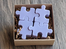 Load image into Gallery viewer, Autism Puzzle Piece Soap  Sulfate Paraben Free Set of 4 Multicolor Variety of Scents