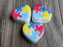 Load image into Gallery viewer, Autism Awareness Heart Puzzle Soap