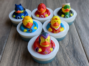Super Hero Rubber Duck Soap