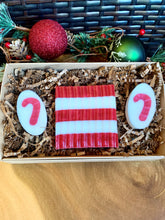 Load image into Gallery viewer, Peppermint  Soap Candy Cane Stripes - Individual And Gift Set - Christmas