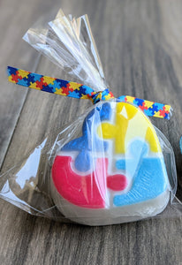 Autism Awareness Heart Puzzle Soap