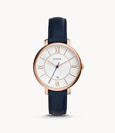 Fossil ES3843 Jacqueline Navy Leather Watch