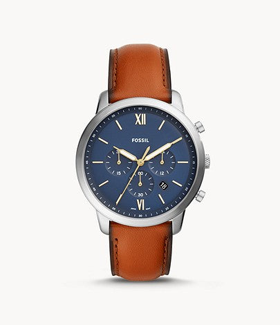 Fossil FS5453 Neutra Chronograph Brown Leather Watch