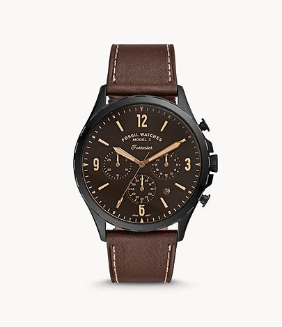 Fossil FS5608 Forrester Chronograph Brown Leather Watch