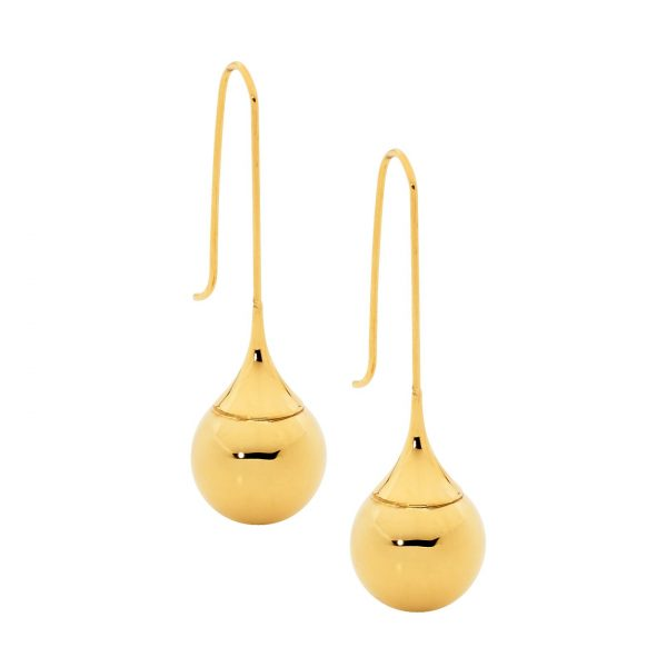 SE168G S/S with YGP Long Drop Earrings