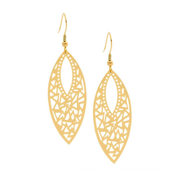 SE171G S/S with YGP Filigree Leaf Drop Earrings