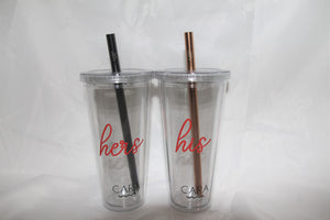 The Perfect Pair CARA Boba (Bubble Tea) Tumblers - Valentine's Special 2020
