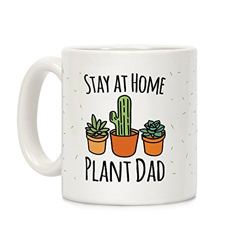 """Stay At Home Plant Dad"" 11oz. Ceramic Coffee Mug"