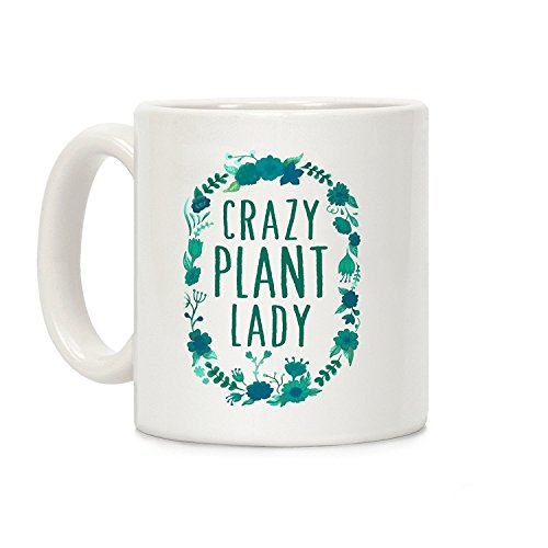 """Crazy Plant Lady"" 11oz. Ceramic Coffee Mug"