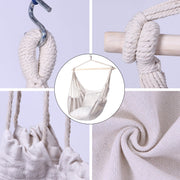 Hanging Rope Chair Swing with 2 Pillows