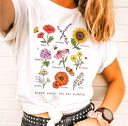 "Vintage ""Bloom Where You Are Planted"" T-Shirt"