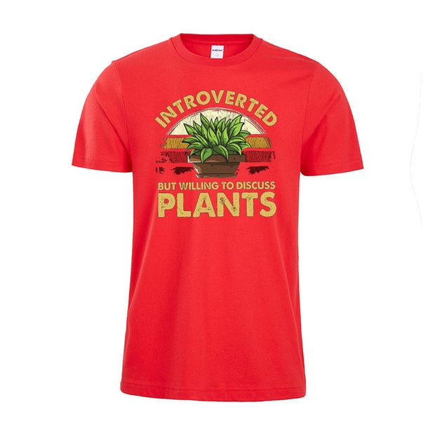 """Introverted But Willing To Discuss Plants"" T-Shirt"
