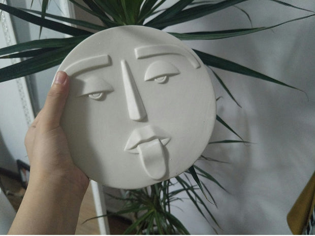 "Ceramic ""Funny Face"" Planter"