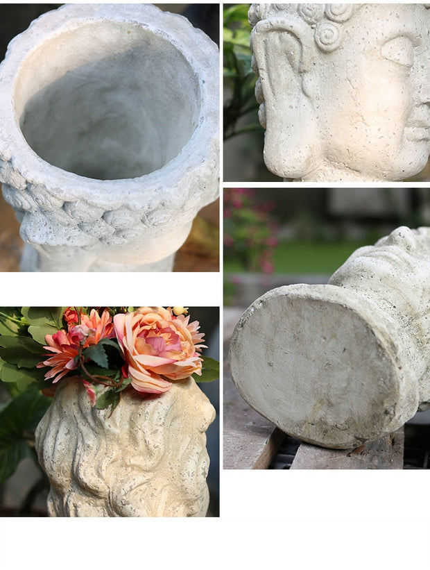 Concrete Hand-Crafted Flower Pots