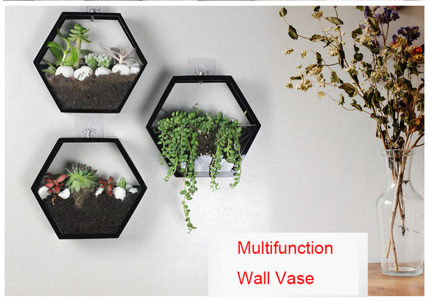 AirHex Wall Planter Black
