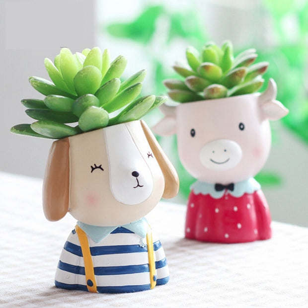 Cute Farm Animal Planter