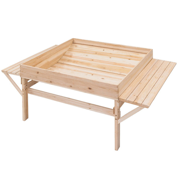 Garden Wood Raised Durable Planter Bed