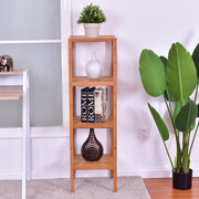 4-Tier Multi-Function Square Bamboo Shelf