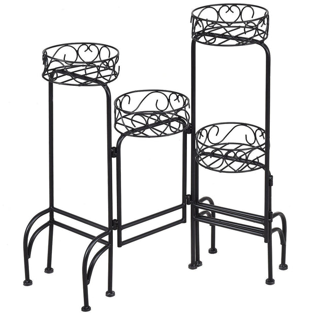 4 in 1 Heavy Duty Metal Display Pot Plant Stand