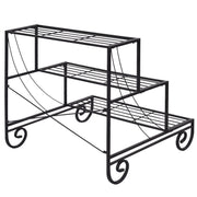3 Tier Outdoor Metal Garden Planter Shelf