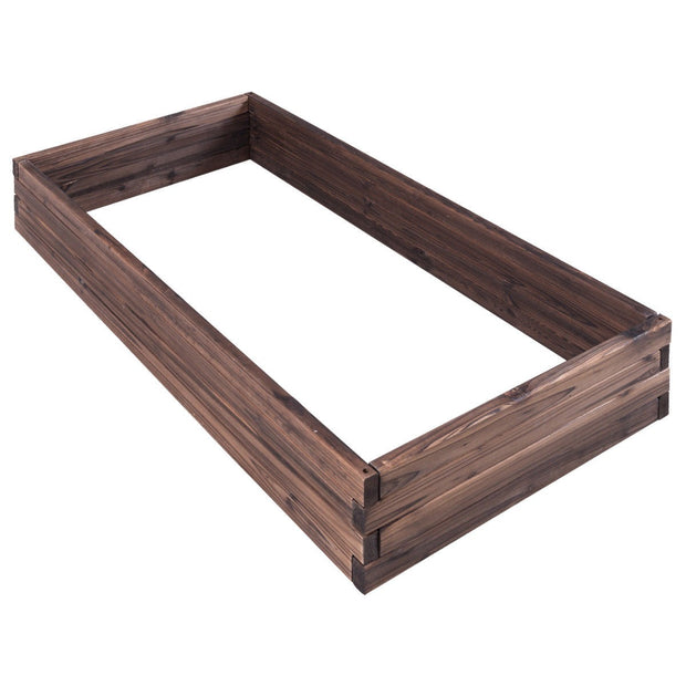 "47""x24"" Elevated Rectangle Wooden Garden Box"