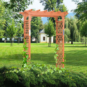 7 ft Wooden High Arbor Arch For Garden
