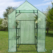 Deluxe 8 Shelf Walk-In Greenhouse