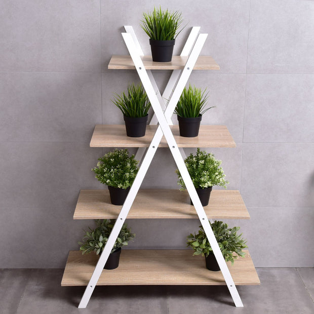 X-Shape 4-Tier Shelf