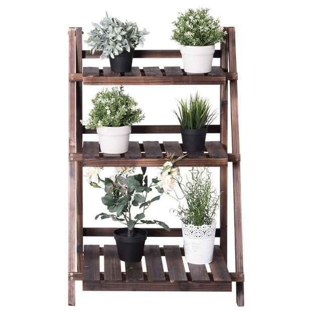 3-Tier Wood Design Folding Flower Stand