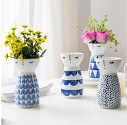 Geometric Pattern Ceramic Face Planter