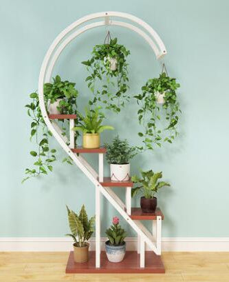Multi-Functional Curved Household Plant Shelf