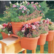 4 Piece Rail Planter Set Terra Cotta