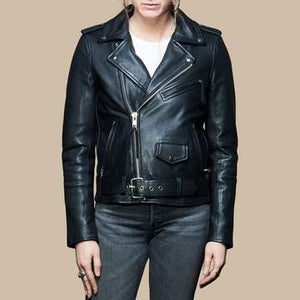 BH&BR Women's Leather Riding Jacket - Black