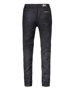 Saint Women's (High Rise) Unbreakable Stretch Motorcycle Denim - Dark Indigo