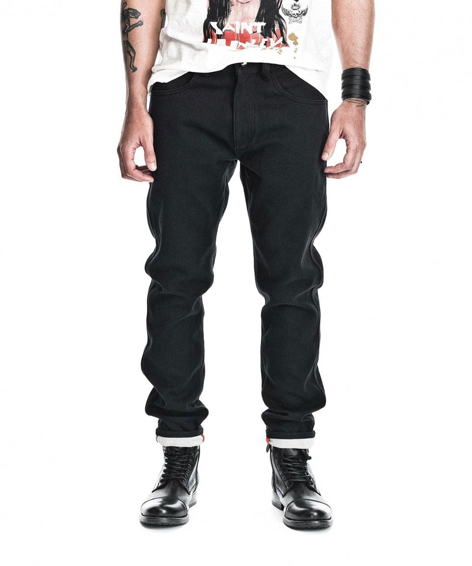 Saint (Tapered Leg) Unbreakable CE Motorcycle Denim - Black (Coated)