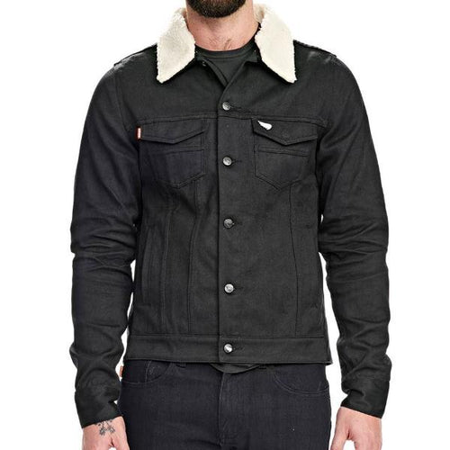 Saint Unbreakable Jacket w/Removable Sherling Collar - Black