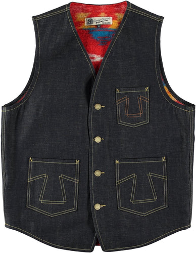Eat Dust 373-B Indigo Denim Vest w/Apache Lining