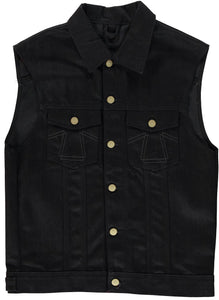 Eat Dust Selvage Denim Vest - Bloodline
