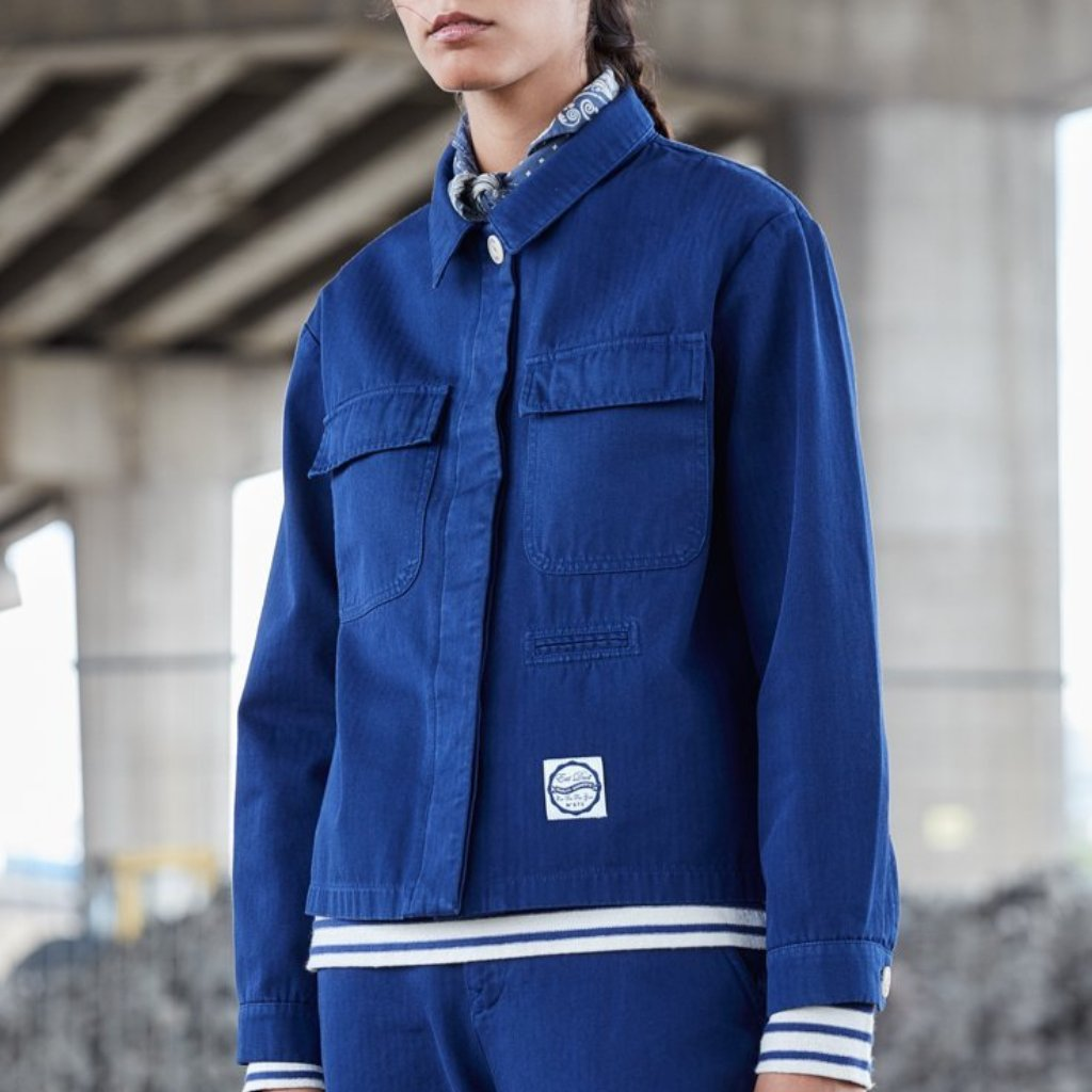 clearance sale new high discount coupon Girls of Dust HBT Worker Jacket - Navy
