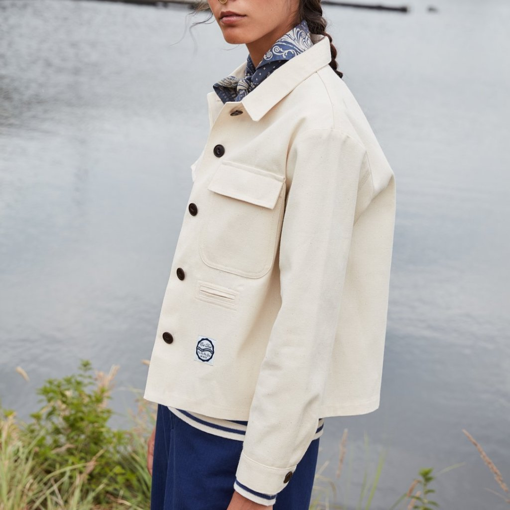 outstanding features pick up professional website Girls of Dust Bull Denim Worker Jacket - Off-White