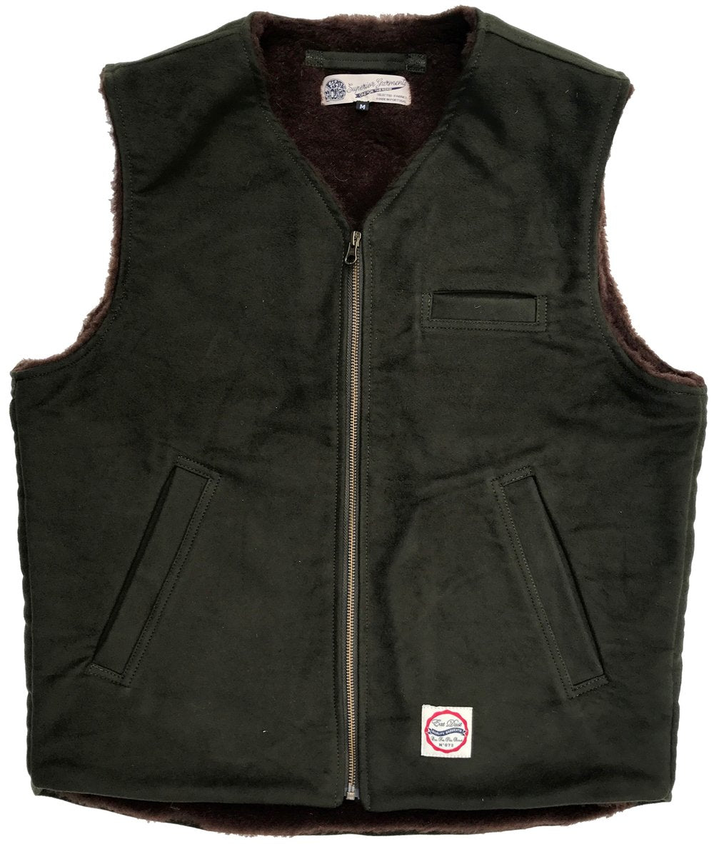 Eat Dust Forest Green Moleskin Deck Vest