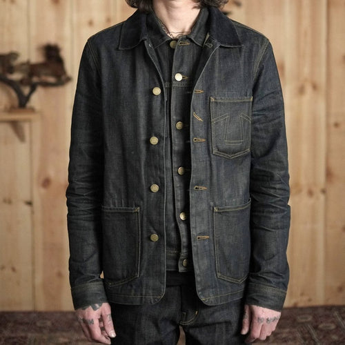 Eat Dust Fit 673 Selvage Denim Worker Jacket - Indigo Blue