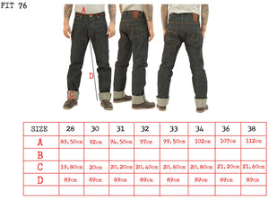 Eat Dust Fit 76 (Regular Slim Fit) Japanese Selvedge Denim