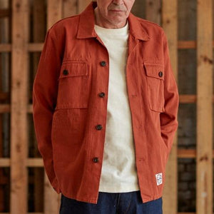 Eat Dust HBT Shirt Jacket - Red Ochre