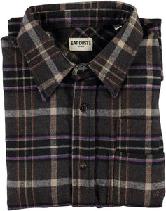 Eat Dust Combat Prince Check Shirt, Brown