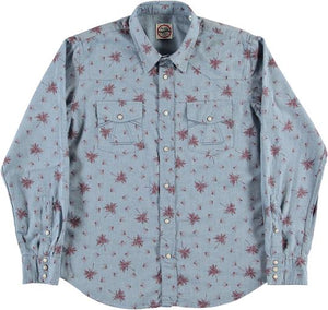 Eat Dust Fireworks Flannel, Lt Blue